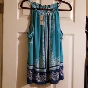 Sleeveless dressy blouse